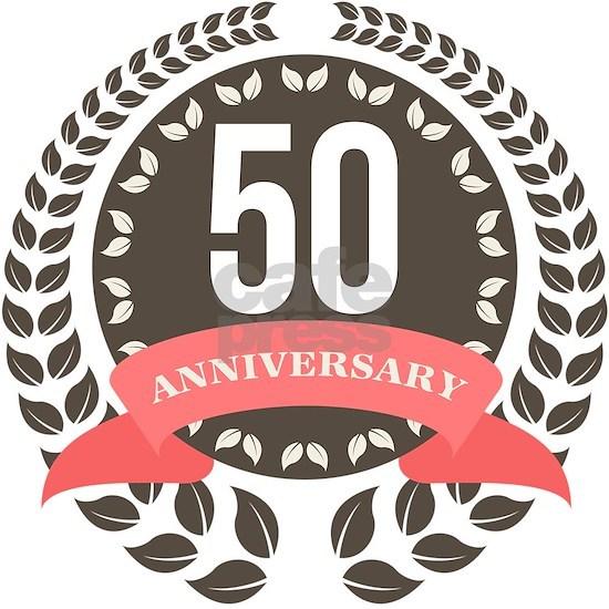 50 Years Anniversary Laurel Badge