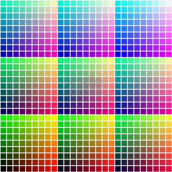 Divided Color Chart