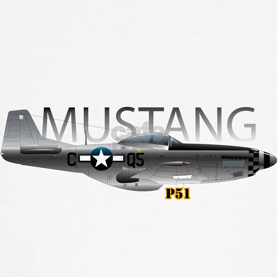 Mustang P-51 drawing on
