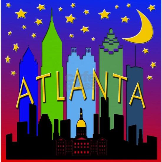 Atlanta Skyline nightlife