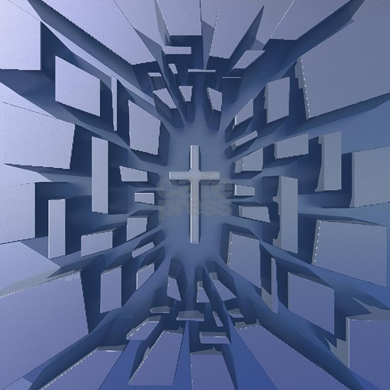 Abstract 3D Christian Cross