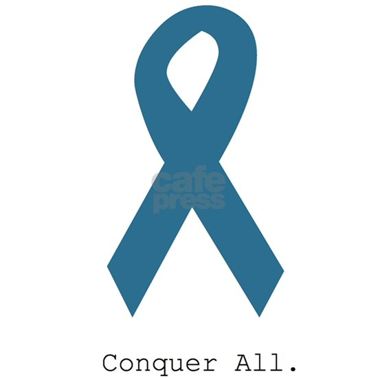 Conquer All. Teal Ribbon