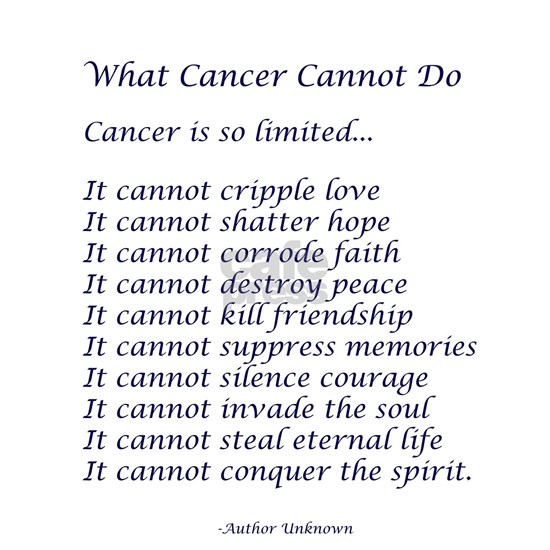What Cancer Cannot Do Poem