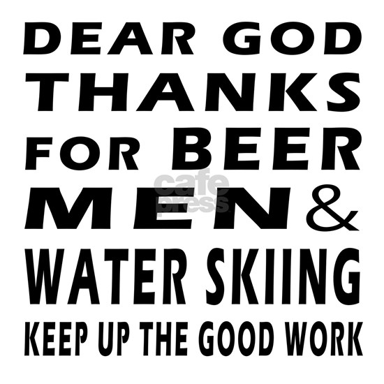 Beer Men And Water Skiing