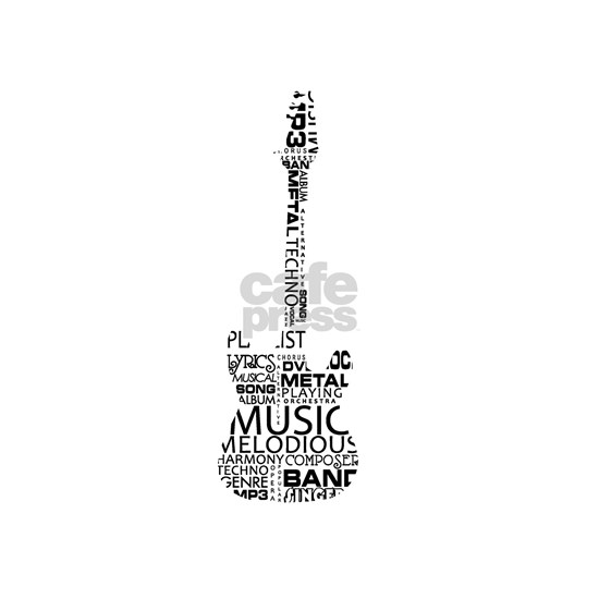 guitar word fill black music image