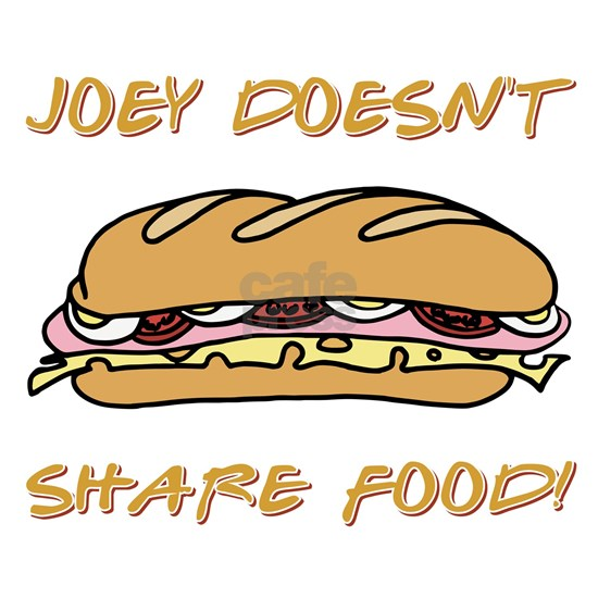 JOEY DOESNT SHARE Sticker (Rectangle) JOEY DOESNT SHARE ...