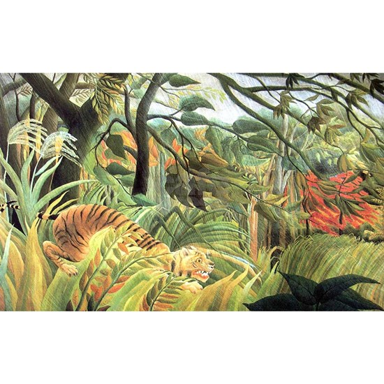 Henri Rousseau Tiger In A Tropical Storm Sticker ...