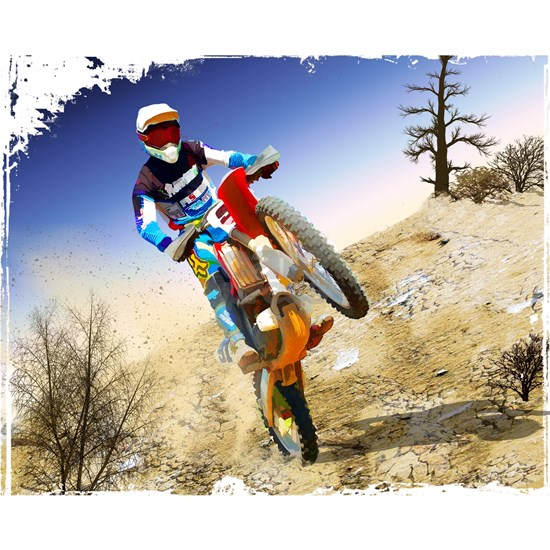 Desert Wheelie Motocross with Edges