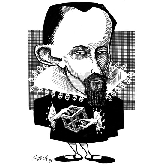 Johannes Kepler, caricature