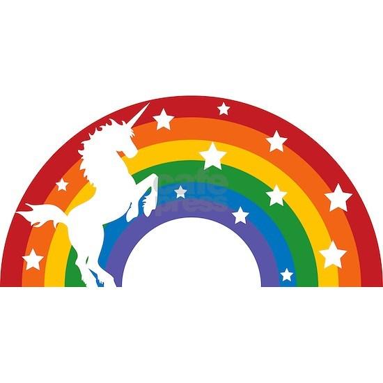 Retro Rainbow Unicorn