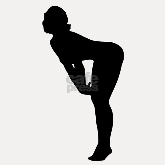 Woman Bending Over Silhouette