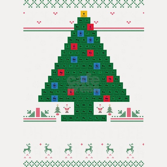 Oh Chemistre Funny Science Periodic Table Christma