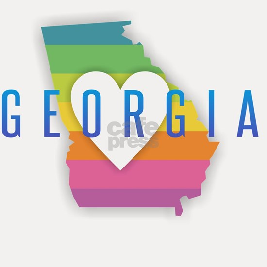 Georgia Heart Rainbow