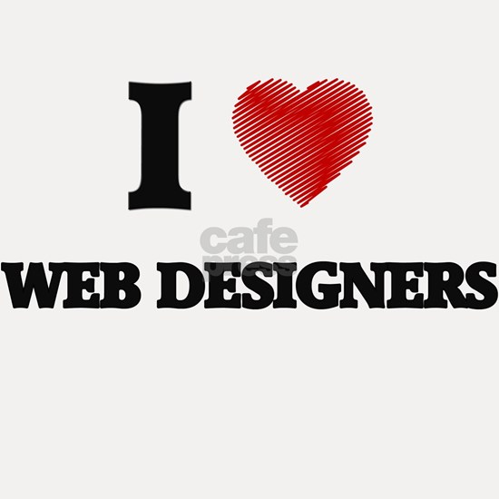 I love Web Designers (Heart made from words)