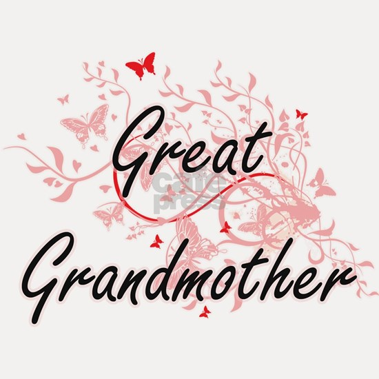Great Grandmother Artistic Design with Butterflies
