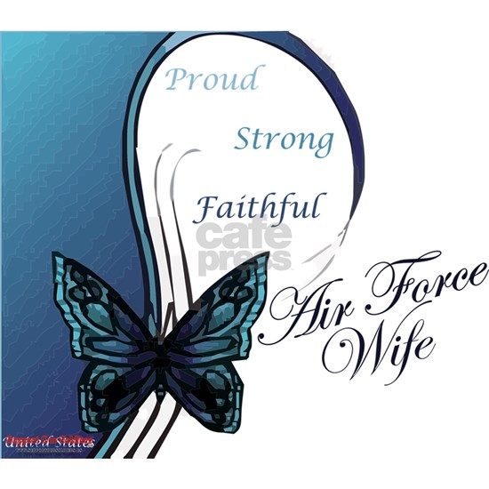 Air Force wife butterfly blue