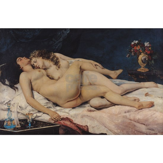 Le Sommeil, 1866 oil on canvas