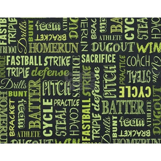 Fastpitch Softball Game Chalkboard Words