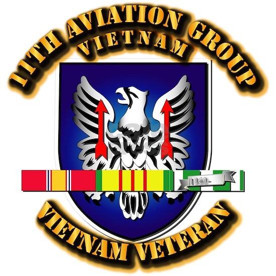 T-Shirt - Army - 11th Aviation Group w Vietnam SV