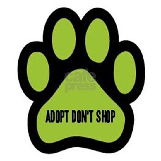 Adopt Don't Shop (lime green)