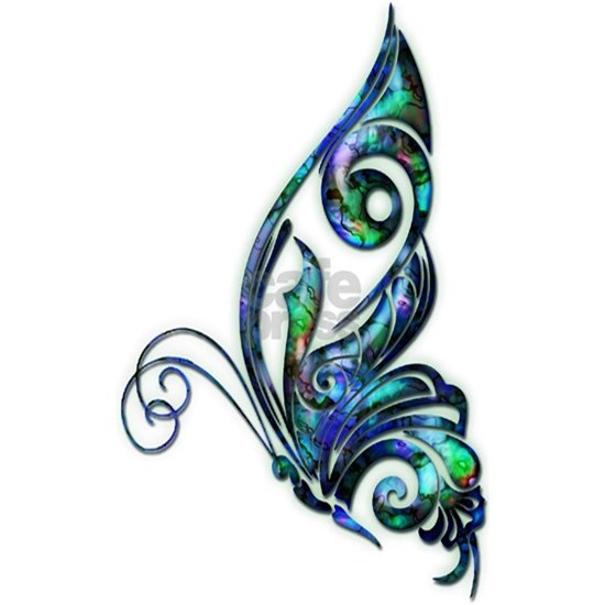 Abalone Shell Art Deco Butterfly