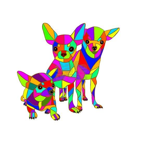 3 Colored Chihuahuas