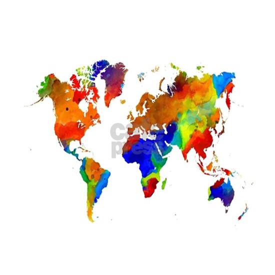 Design 33 Colorful World map