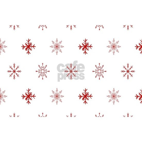 Christmas Red Snowflake Pattern