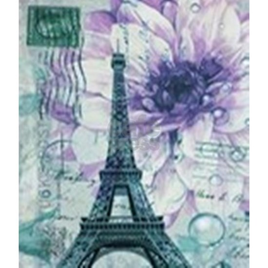 floral vintage paris eiffel tower