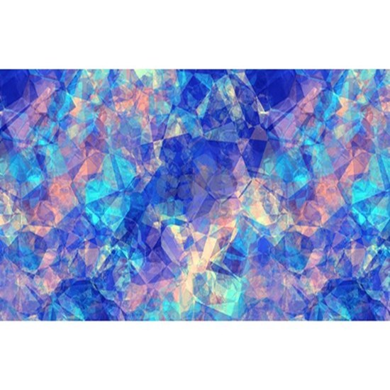 Azure Blue Crumpled Pattern Marble