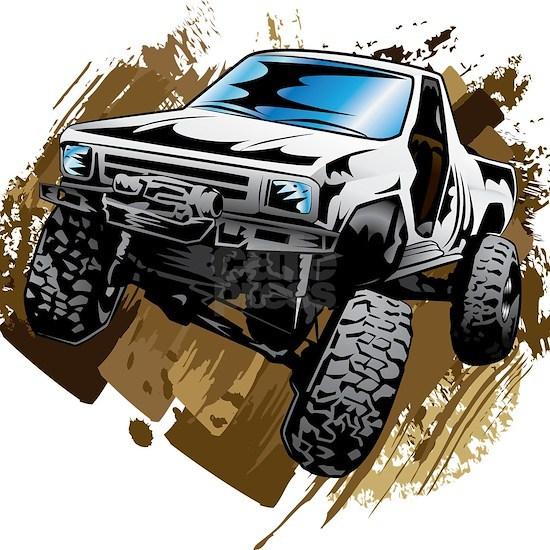 White Muddy Toyota Truck