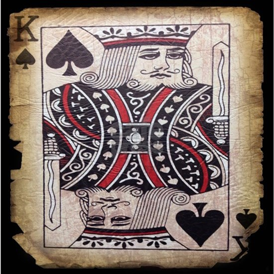 Vintage poker king card fashion
