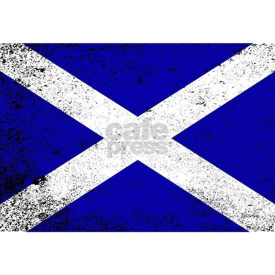 Scotish Flag Grunge