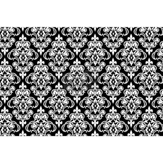 White & Black Damask #36