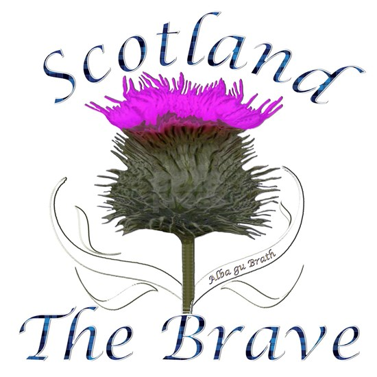 Scotland The Brave Thistle Design