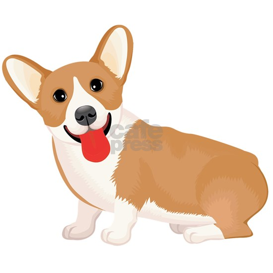 Pembroke welsh corgi dog showing tongue