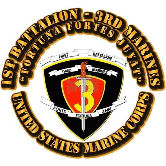 SSI - 1st Battalion - 3rd Marines With Text USMC