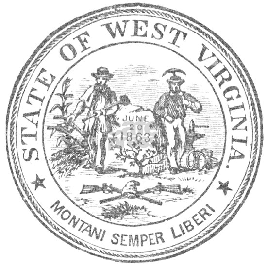Vintage West Virginia Seal