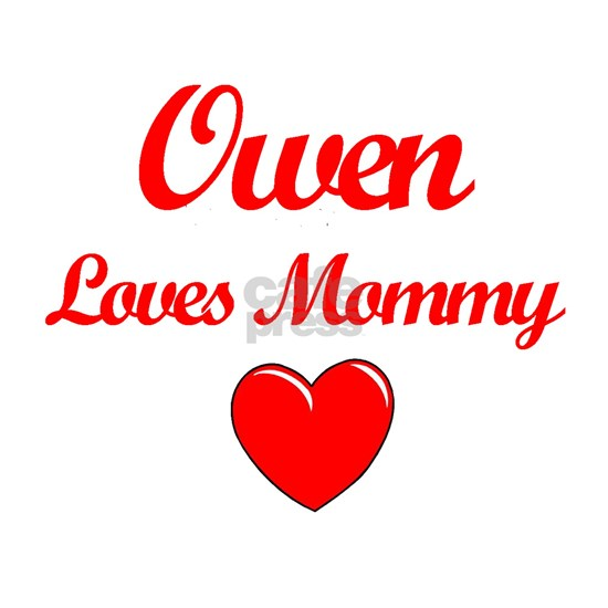 lovemomOwen copy Sticker (Oval) Owen Loves Mommy Oval ...