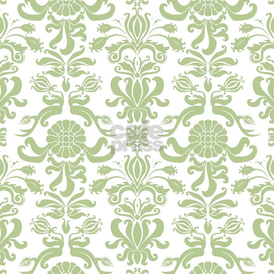 Pale Green Damask