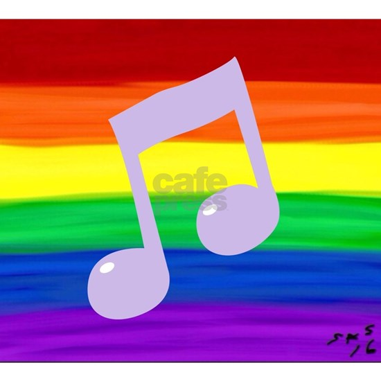 Gay music note art rainbow