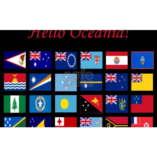 Oceania flags mousepad