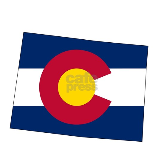 Colorado State outline Map and Flag