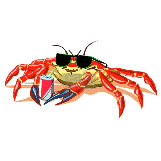 Cool Cancer Crab with Sunglasses