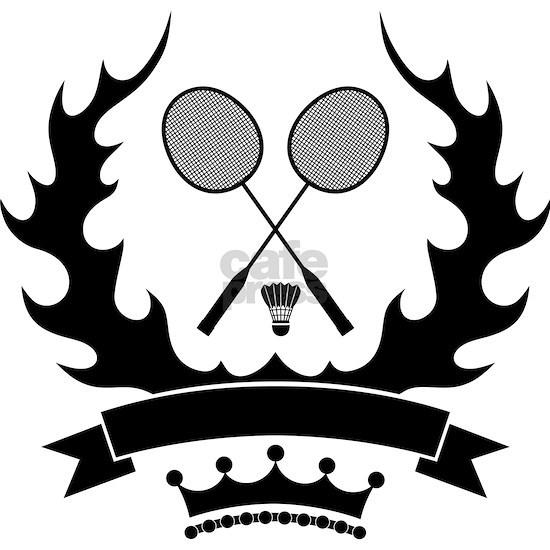 Vintage style badminton logo template