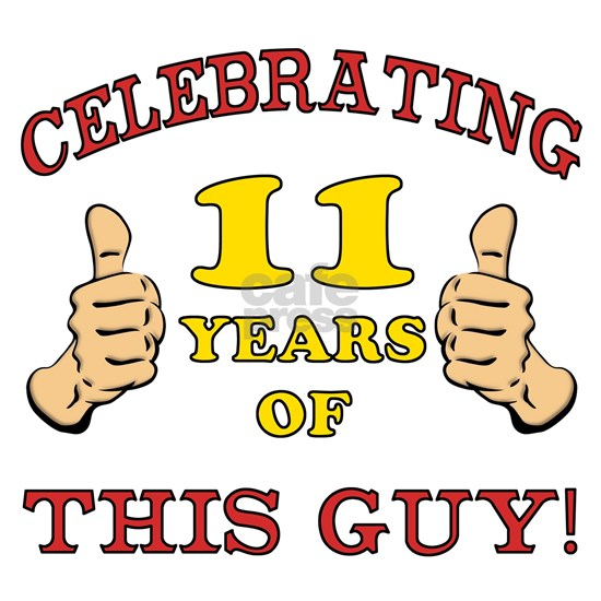 Funny 11th Birthday For Boys