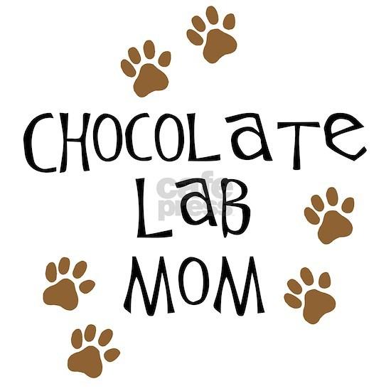 chocolate lab mom