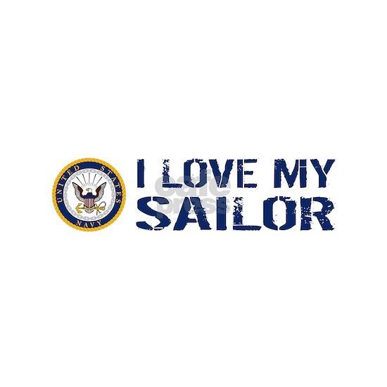 U.S. Navy: I Love My Sailor (Blue & White)