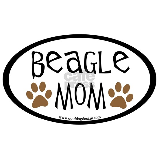 beagle mom oval