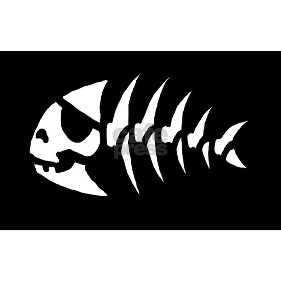 Pirate Fish Sticker